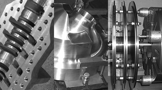 CNC Machining Services Black And White Image - Dechert Dynamics Corporation